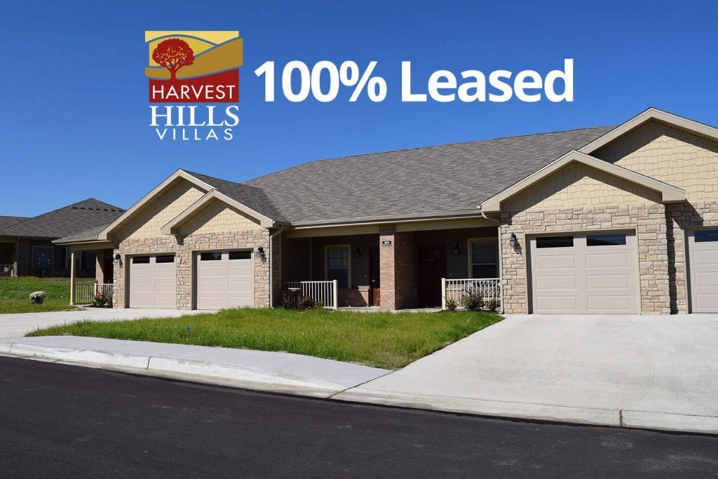 Harvest Hills Villas: Richmond, Missouri – 100% Leased